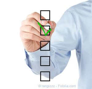 Checkliste, Leitfaden für Suchmaschinenoptimierung