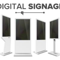 Digital Signage contra Theken- und Bodensteller