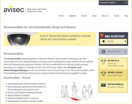 Personenzähler, People-Counting Spezialist avisec.ch