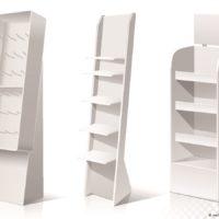 Verkaufsdisplays können aus unterschiedlichen Matrialien hergestellt werden. Z. B: Acryl, Holz, Metall u.a.